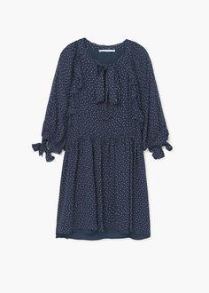 Rozkloszowana sukienka w grochy | MANGO