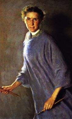 A Motion Picture (self-portrait), [1912]. Margaret Foster Richardson (American, 1881-1945). Oil on canvas. PAFA.