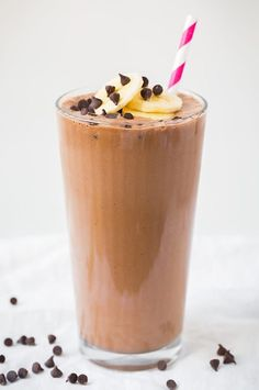 Chocolate Peanut Butter Banana Breakfast Shake | Cooking Classy
