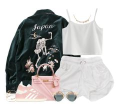 """""""Japan"""" by oh-aurora ❤ liked on Polyvore featuring Hermès, ASOS, adidas Originals, Chicwish and Anton Heunis"""