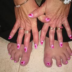 Valentine's day nails done by Traci. Courtesy of Elan Vitale- Welland ON L3C 5A2- 905.732.4127
