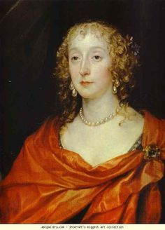 Anthony van Dyck. Portrait of Anna Dalkeith, Countess of Morton, and Lady Anna Kirk. Detail. 1630s. Detail. 1630s. Oil on canvas. The Hermitage, St. Petersburg, Russia.