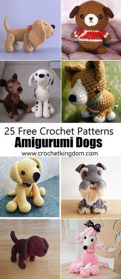 25 Free Amigurumi Dog Crochet Patterns to Download Now. Amigurumi dog patterns, crochet toy dog patterns.