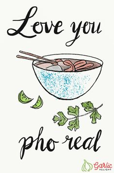 Love you, pho real. Illustration from garlicdelight.com. via @garlicdelight
