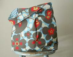 Blue Red Market Bag Amy Butler Morning Glory and Full by retrofied, $48.00 (must. save. money.)