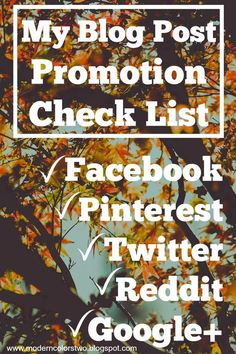 Quirky Bohemian Mama - A Bohemian Mom Blog: The NEWBIE shares: My personal blog post promotion checklist (so far)