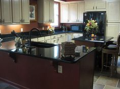 black countertops | in this photo black galaxy or by home improvements countertops ...
