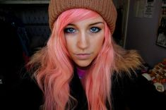 Salmon hair dye idea for winter!!! Or any other season!!!