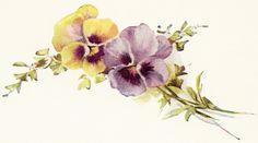 Old Design Shop ~ free digital image: vintage pansies #2