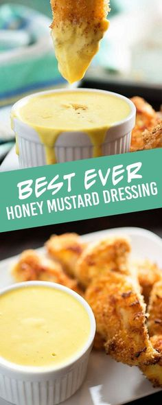 This honey mustard dressing is the perfect dip or dressing for salad! # Food and Drink homemade Honey Mustard Dressing Recipe - super creamy and so easy! Honey Mustard Salad Dressing, Honey Mustard Recipes, Homemade Honey Mustard, Honey Mustard Salmon, Honey Mustard Sauce, Best Salad Dressing, Homemade Sauce, Easy, Dip Recipes