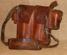 Vintage Leather Cross-Body Satchel Great by CuriosityShopper