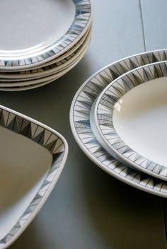 Rörstrand ´´Tebe´´ Swedish Dishes, Tabletop, China, Ceramics, Retro, Sewing, Tableware, Beautiful, Vintage