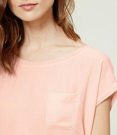 #loveloft Pink Fizz Drapey Pocket Tee