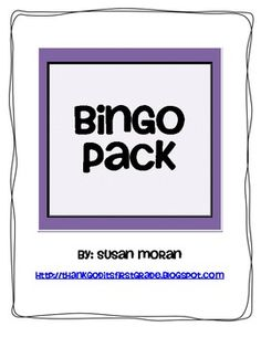 BINGO pack! game boards for short vowels, long vowels, and blends!