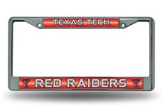 Texas Tech Red Raiders Bling Chrome License Plate Frame