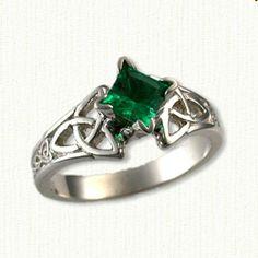 Celtic Engagement Rings, Celtic Wedding Rings, Celtic Rings, Engagement Ring Settings, Designer Engagement Rings, Green Diamond Rings, White Gold Rings, Princess Cut Rings, Ring Verlobung