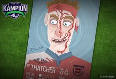 Thatcher by Marcin Siwek (Warsaw, Poland)  www.behance.net/MarcinSiwek  #kampioncardgame #football #england