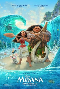"The brand new trailer for Walt Disney Animation Studios' MOANA is finally here! The film, starring Auli'i Cravalho (voice of ""Moana"") and Dwayne Johnson (voice of ""Maui""), opens in theatres in this Thanksgiving! Moana Disney, Film Disney, Frozen Disney, Disney Pixar, Disney Art, Disney Movies Free, Disney Blu Ray, Disney Wiki, Punk Disney"