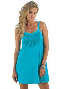 Fringe Swimdress | Plus Size Swimdresses | OneStopPlus