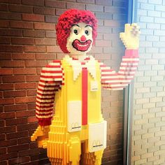 Life-sized Ronald McDonald made entirely out of LEGOs at Hamburger University, Oak Brook, IL #mcdonalds #mcdonald's #mcdonaldland