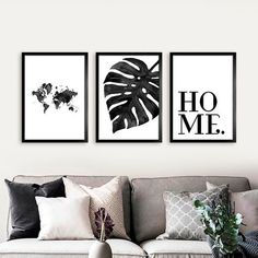 Kit Home Trio - Encadreé Posters Room Wall Decor, Home Decor Wall Art, Home Art, Bedroom Decor, Inspiration Wand, Simple Canvas Paintings, Wall Art Designs, Frames On Wall, Wall Prints
