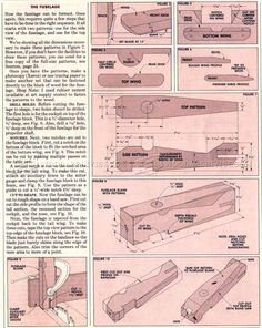 #2697 Wooden Biplane Plans - Wooden Toy Plans