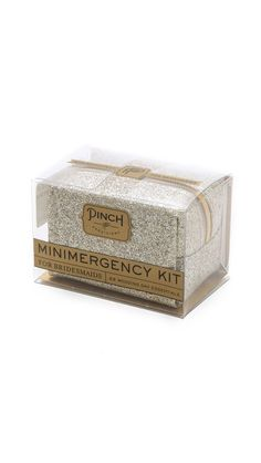Minimergency kit for the bride!  So cute!!!
