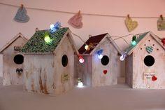 Luces quitamiedos - Casitas de Pájaro. !00% hechas a mano - hecho a mano por Letras-decorativas en DaWanda