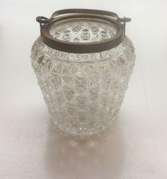 kaunis jääpala-astia 1920 luvulta, metalliosat kuparia . MYYTY