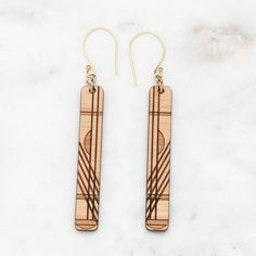 Chloe Drop Wood Earrings