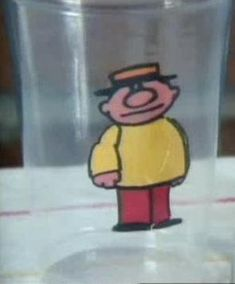 Teeny Little Super Guy appeared in animated segments created by Paul Fierlinger for Sesame Street, beginning in Season 15.