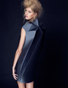 The Crystallographica collection – Uttu Textiles Fashion Forms, 3d Fashion, Fashion Details, Runway Fashion, High Fashion, Paper Fashion, Geometric Fashion, Geometric Dress, Trend Board