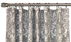 Royal Damask Shower Curtain in Gray | Also available in Black, Navy, Pink & Yellow