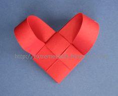 Woven Paper Heart Ornament