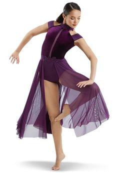 Plunge Leotard with Back Panel | Weissman® | Dance outfits ...