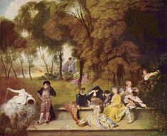 Merry Company in the Open Air by @artistwatteau #rococo