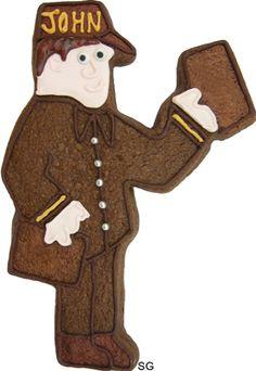 Mailman cookie cutter