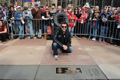 2010- NASCAR driver Tony Stewart accepts his place on the Walk of Fame for the Pepsi Max 400. #NASCAR #AutoClubSpeedway #WalkofFame #TonyStewart