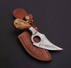 EDC Skinner Knife Skinning Knife, Dagger Knife, Damascus Steel, Made Of Wood, Blacksmithing, Edc, Blade, Knifes, Swords