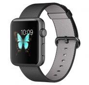 Apple Watch Sport spacegrijs alu 42mm zwart geweven nylon bandje  SHOP ONLINE: http://www.purelifestyle.be/shop/list/technology/apple-watch
