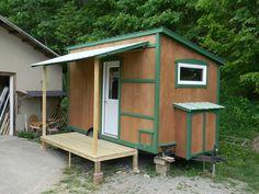 Tiny Houses On Wheels Interior   yahini homes 104 square feet tiny house on wheels with folding porch ...