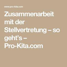 Zusammenarbeit mit der Stellvertretung – so geht's – Pro-Kita.com