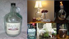 4 Liter Gallon Glass Carboy Jug w Lid Craft Brew Wine Beer Plant Alkaline Water  #Gallo
