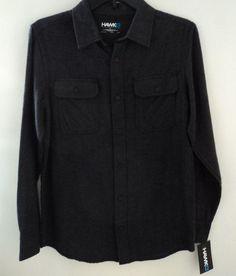 Hawk Soft Micro Fleece Long Sleeve Button Front Shirt Boy's Size Large #Hawk #Everyday