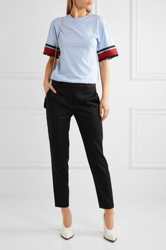 Stella McCartney | Wool-twill slim-leg pants  | NET-A-PORTER.COM