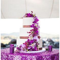 Radiant orchid /wedding cake idea