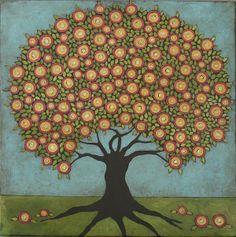 Juicy Fruit Folk Art Tree | Jane DesRosier