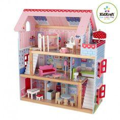 casa de muecas de madera modelo penelope de kidkraft de bonito diseo para decoracin en habitacin de nias y juego ideal para muecas barbie pinterest