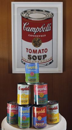 To celebrate the 50th anniversary of Warhol's famous work, Campbell's Soup is introducing special-edition cans of its condensed tomato soup—a flavor that the artist liked—featuring labels reminiscent of the pop artist's paintings.     Campbell's Releases Andy Warhol-Inspired Cans - DesignTAXI.com