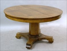Exceptionnel 1920u0027s Tiger Oak Table Split Pedestal   Bing Images